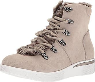 Kenneth Cole Reaction Womens HUM Along Faux Fur Bootie Alpine LACE Snow Boot, Taupe, 7.5 M US