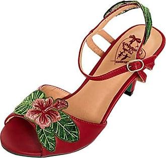 Dancing Days Damen Schuhe April Hibiscus Peep Toe Rot Peep Toes 36 15d57f5926