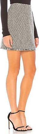 Minkpink Tweed Skirt With Fringe Hem