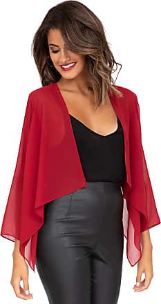 Likemary Sheer Chiffon Shrug Bolero Jacket Cherry Wine Red 12