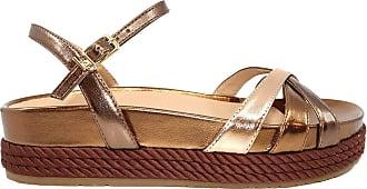 Liu Jo Liu Jo Patty 04 Brass Womens Leather Sandal Brown Size: 8.5 UK
