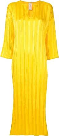 Zero + Maria Cornejo Vestido de cetim - Amarelo