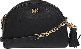Michael Kors Shoulder Bag With Metal Logo Womens Black