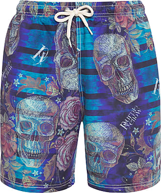 PURPLE YELLOW SHORTS MASCULINO ÁGUA DARK SKULLS - AZUL