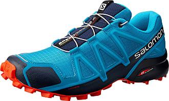 Salomon Mens Speedcross 4 Trail Running Shoes, Blue (Fjord Blue/Navy Blazer/Cherry Tomato Fjord Blue/Navy Blazer/Cherry Tomato), 7 UK (40 2/3 EU)
