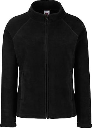 Fruit Of The Loom Womens Fit Outdoor Fleece Jacket Black L