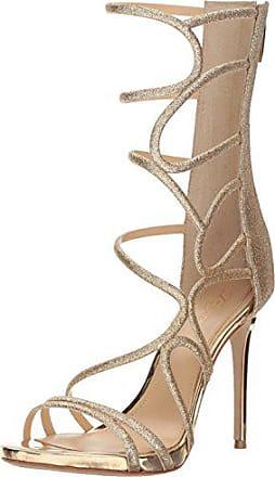 Imagine Vince Camuto Womens Daisi Heeled Sandal Champagne/Soft Gold 6 Medium US