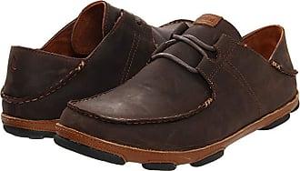 Olukai Ohana Lace Up Nubuck (Dark Wood/Toffee) Mens Shoes