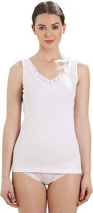 Camille 100% Cotton Ultra Comfort Sleeveless Vest 18/20 White