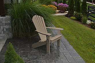 A & L Furniture A & L Furniture 880-WW Weathered Wood Poly Fanback Adirondack Chair
