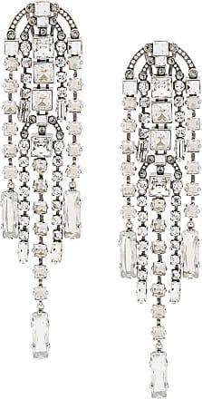 Lanvin crystal embellished drop earrings - Silver
