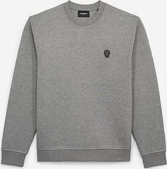 The Kooples Graues weites Sweatshirt mit Badge - DAMEN