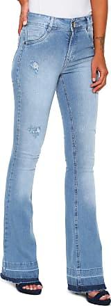 Dimy Calça Jeans dimy Flare Destroyed Azul