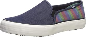 Keds Womens Double Decker Denim Stripe Navy Sneaker