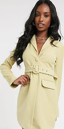 4th + Reckless Tall blazer dress with belt in pistachio-Green