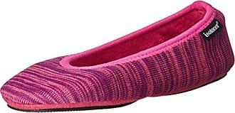 84990a4ab Isotoner Womens Paris Ballet Slipper Vivid Violet Space dye Small 5-6