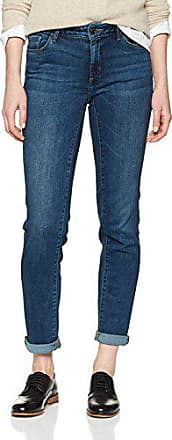 Eddie Bauer StayShape Slim Straight Jeans-Fleecegef/üttert Donna