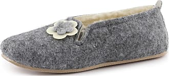 Ladeheid Women´s Felt Shoes Slippers Flipflops LABR532 (Grey, 6.5 UK)