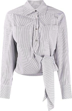 Iro Camisa listrada com amarração - Cinza