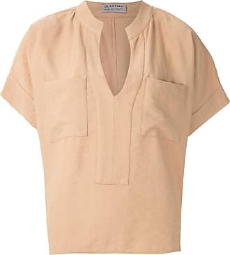 OLYMPIAH Maggiolina chest pockets blouse - Brown