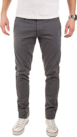 Yazubi Mens Trousers Chinos Pants Merlin II - Slim Light Silver Iron - Khaki, Grey (1003), W30/L34