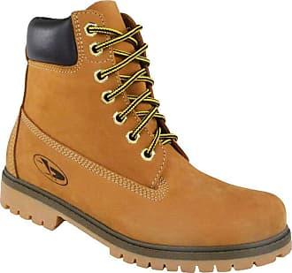 Beeton Bota Coturno Couro Beeton Masculina Yellow Boot Strong 407 Solado de Borracha