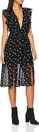 Glamorous Curve Womens Ladies Dress Party, Multicolour (Multi Spot Chiffon Bu97), 10 (Size:S)