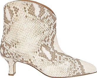PARIS TEXAS Python Print Ankle Boots, 37.5 Beige