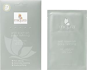 Miqura Pflege Premium Mask Collection Pore Refining Bio Cellulose Coconut Face Mask 1 Stk