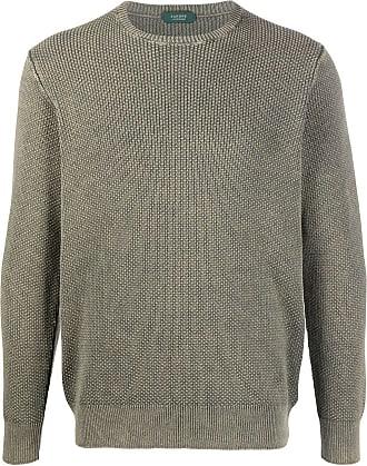 Zanone Suéter decote careca texturizado - Verde