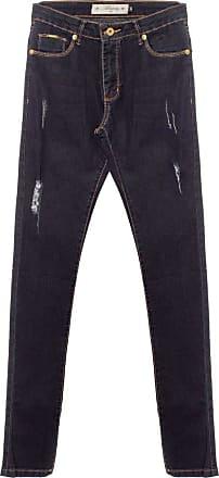 Aleatory Calça Jeans Feminina Aleatory Destiny-Azul-40