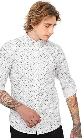 Jack & Jones Camisa Jack & Jones Slim Estampada Off-white