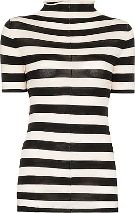 Khaite Nidia striped knit top - Preto