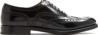 Churchs Burwood Leather Brogues - Womens - Black