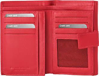 dv Grand portefeuille pour femme en cuir avec porte-monnaie signé DV Rouge 8993bc386e9