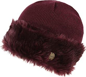 36b5be112ab Regatta Womens Ladies Luz Faux Fur Trim Cotton Jersey Winter Beanie Hat (S