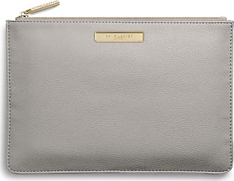 Katie Loxton Womens Medium Soft Pebble Vegan Leather Clutch Perfect Pouch Pale Grey