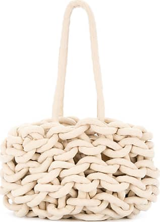 Alienina braided tote bag - White