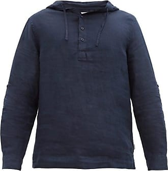 Onia Kai Linen Hooded Overshirt - Mens - Navy