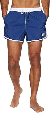 Emporio Armani Mens Shorts Recycled Pop Contrast, Blue (Cobalto 04433), Medium (Size: 50)