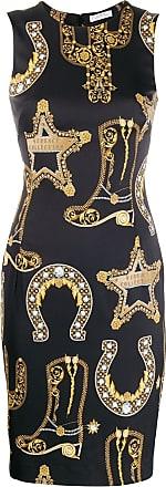 Versace Collection Vestido estampado - Preto