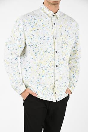 Palm Angels Snap Button Painted Denim Jacket size M