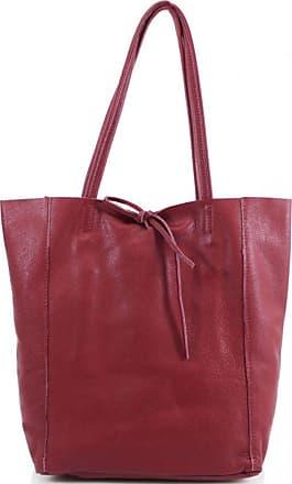 LeahWard Womens Real Leather Shopper Shoulder Bags Handbag 102 (Burgundy)