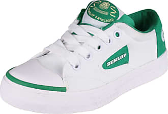 Dunlop Kids Green Flash Du1555 Non-Marking Trainers White Size 2.5