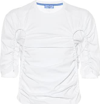 MUGLER Ruched cotton top