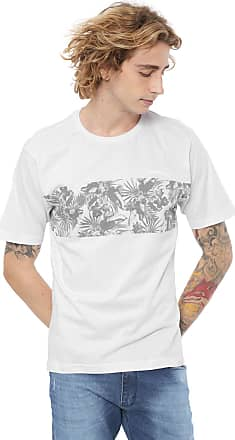 O'Neill Camiseta ONeill Floral Stripes Branca