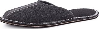 Ladeheid Men´s Felt Slippers Shoes Flipflops LABR163 (Graphite-2, 11.5 UK)