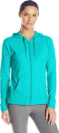 Hanes Womens Jersey Full Zip Hoodie, Eco Teal, XX-Large