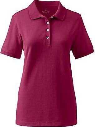 Lands End Piqué-Poloshirt mit kurzen Ärmeln und Bündchen - Rot - 32-34 von Lands End