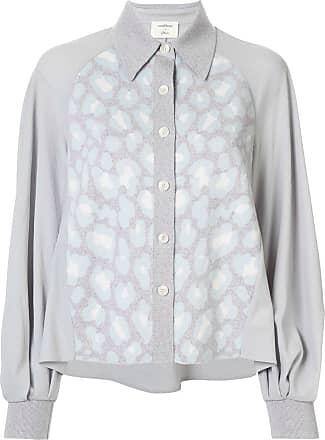 Onefifteen contrast knitted shirt - Blue